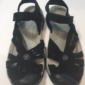 Keen Rose Black Suede Leather Sandals Like New 8.5